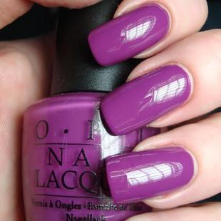 紫色指甲搭配图片