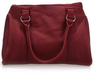 包包为暗酒红色女士大拎包