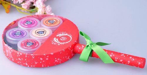 美体小铺 果香唇蜜/唇油5件套 棒棒糖礼盒